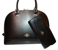 Coach Sierra Covertible Dome Satchel in Black