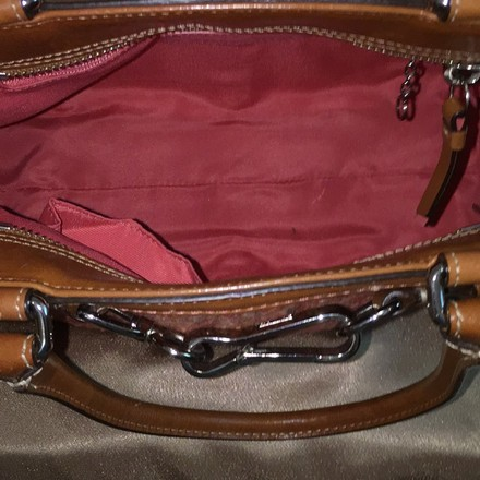 Coach Satchel in Brown, Red