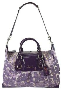 Coach Sateen Signature Jacquard Satchel