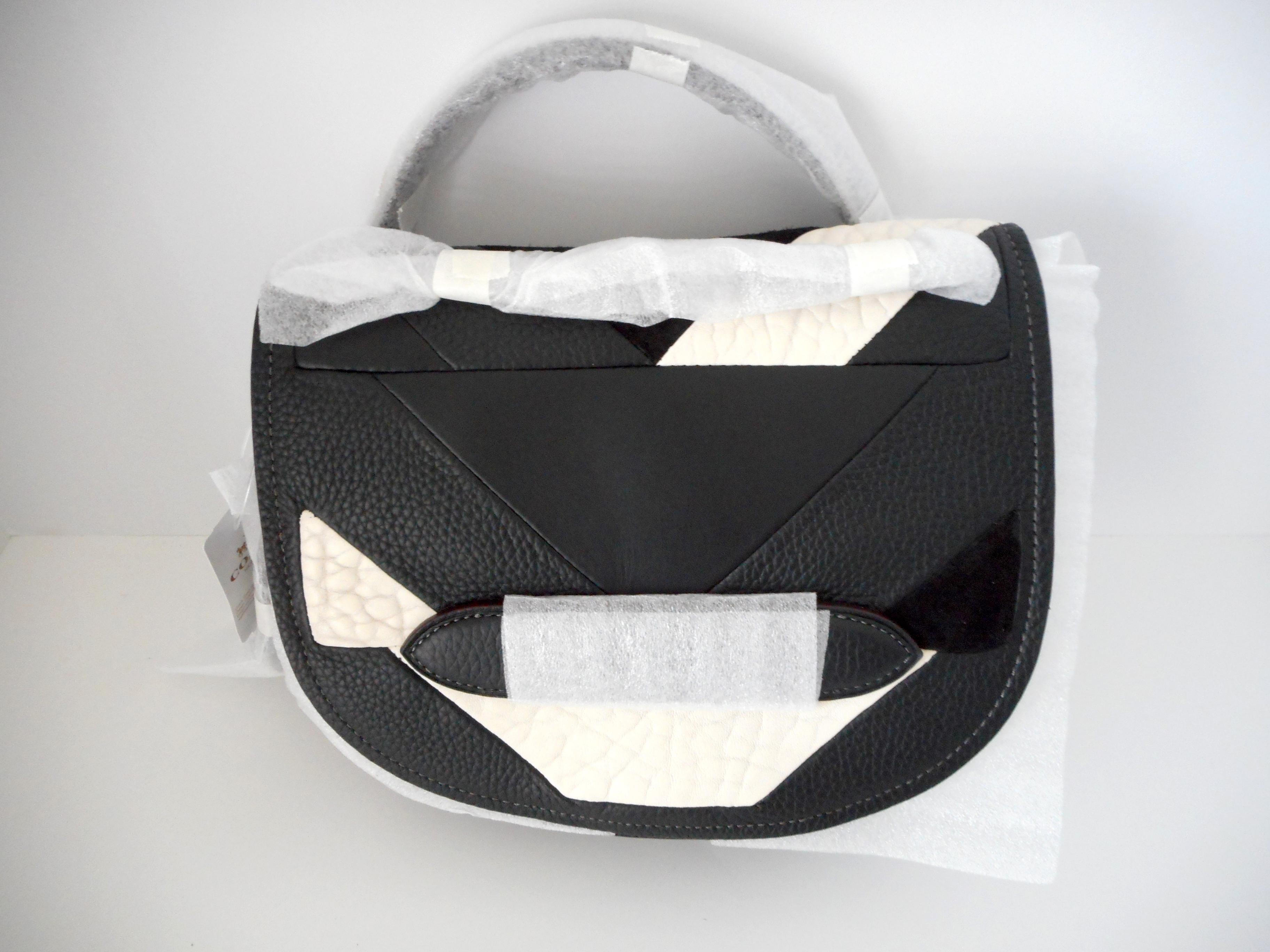b24eb68efa ... reduced coach shadow in pieced leather style 36968 black and white  cross body bag tradesy 73c4d
