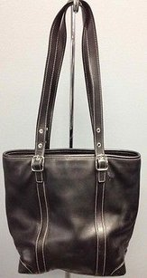 Coach M334462 Leather Open Top Silver Hardware Accented B2903 Shoulder Bag