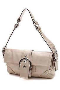 Coach Brushed Leather Demi Shoulder Bag