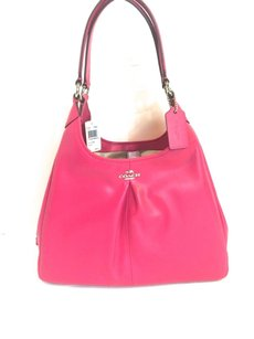 Coach 36903 Madison Maggie Leather Handbag Ruby Shoulder Bag