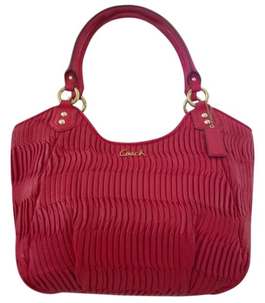 Coach Ashley Gathered Leather Shoulder Bag on Sale, 65% Off ...