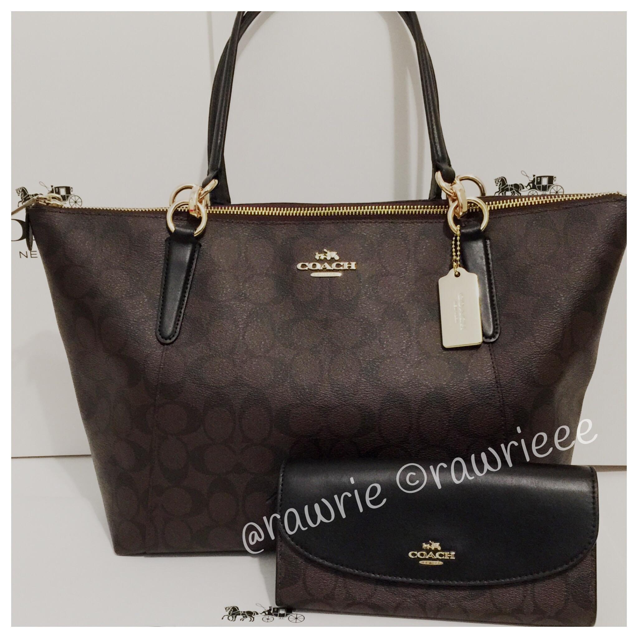 9648c09901f5 discount code for coach monogram gift set set matching set brown tote in  black 42637 2dadf