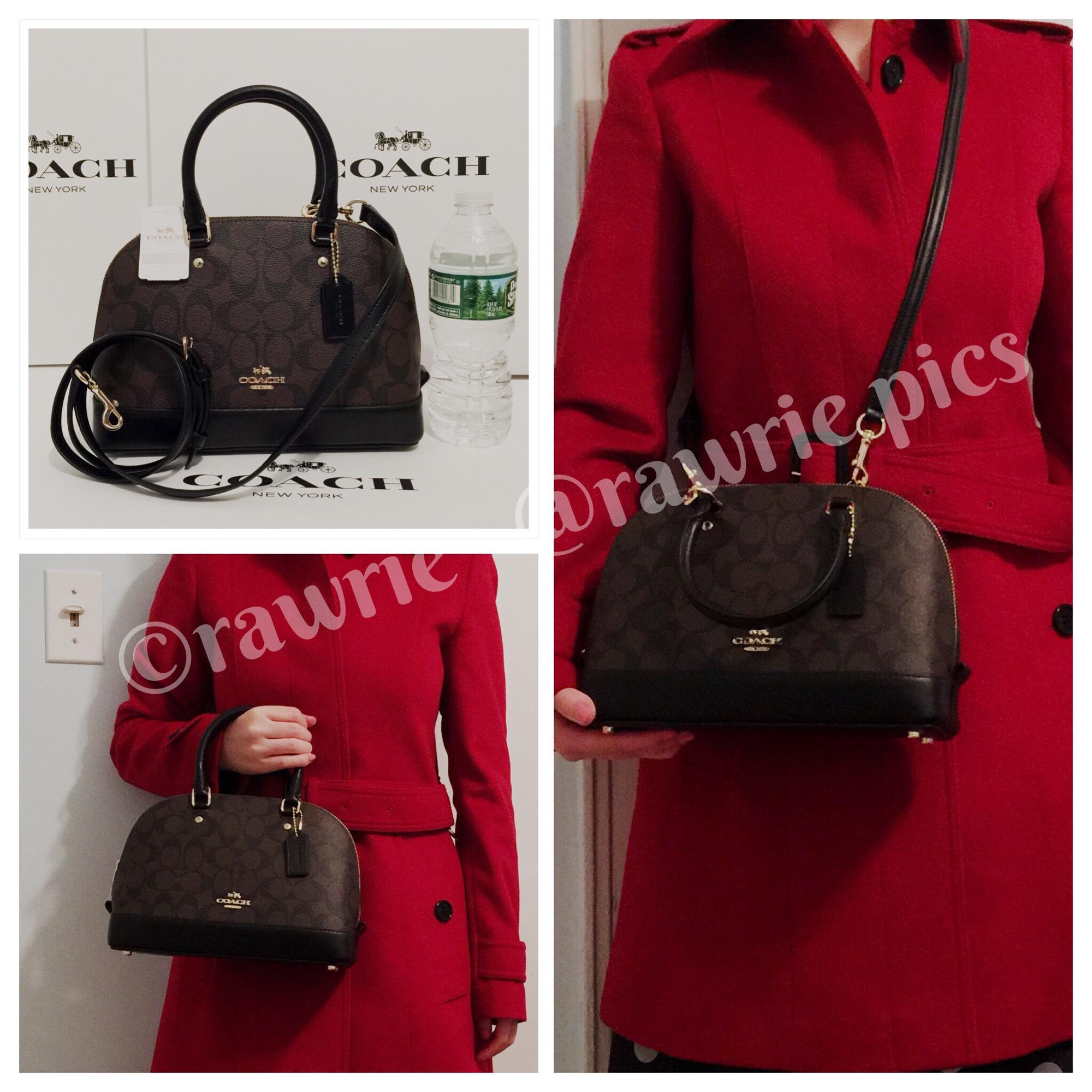 6ff4631d1719 ... sale coach monogram shoulder strap classic dome gift receipt satchel in  brown dffbc 162fe