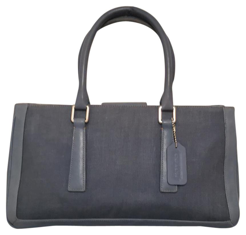 77c57f0ab229 ... where to buy coach purse handbag shoulder tote leather satchel in blue  silver b423d 07060