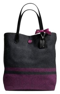 Coach Tote in SILVER/CHARCOAL/PASSION BERRY