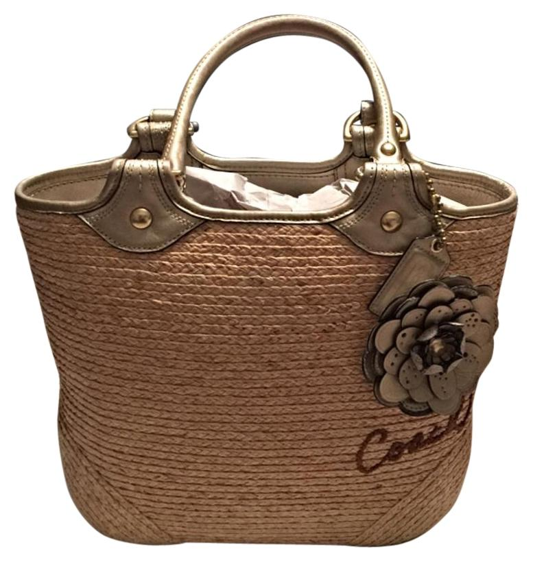 aae42bfa77 ... greece coach beige and gold tote bag outlet 56d11 622f5