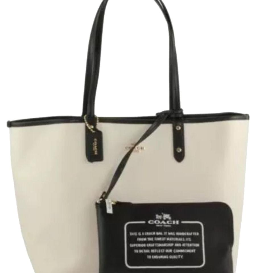 Coach F36609 Chalk/Black Tote Bag on Sale, 44% Off | Totes on Sale