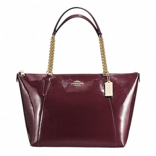 Coach Tote in Maroon