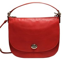Coach Turnlock Pebble Leather Crossbody Hobo Bag