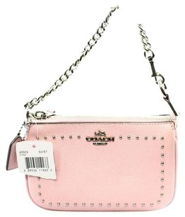 Coach Wallet Leather Handbad Wristlet in Pink