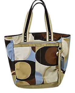 Coach Womens Printed Handbag Satchel in Blue