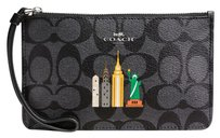 Coach Wristlet in Black Smoke / Black