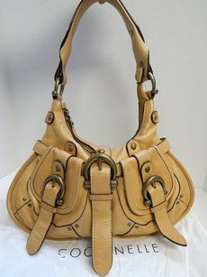 Coccinelle Tan Leather Hobo Shoulder Bag