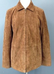 Coldwater Creek Suede Brown Jacket