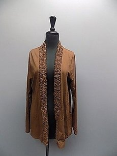 Coldwater Creek Long Sleeved Stretchy Textured Open Cardigan 090a Sweater
