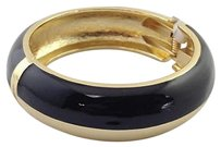 Coldwater Creek Coldwater Creek Goldtone Vivid Enamel Bracelet Black In Box