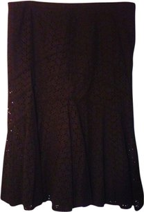 Coldwater Creek Lace Skirt Black