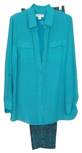 Coldwater Creek 3 pc pantset Top turquoise