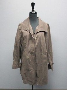 Cole Haan Long Sleeves Lined Button Front Coat Sm9793 Brown Jacket