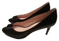 Cole Haan Bethany D15-md43330 Patent Leather Peep Toe Bethany Black Pumps