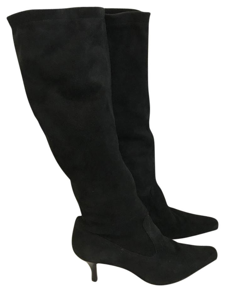 ca42274fd2b4 Cole Haan Black Suede Stretch Pull Pull Pull On Boots Booties Size US 8  Regular (M