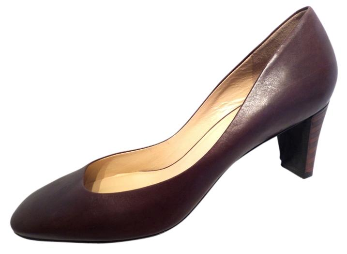 """Cole Haan Brown Round Nike Air Stefana Leather Round Brown Square 2"""" Heels Pumps Size US 11 Regular (M, B) 5f5bec"""
