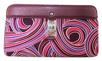 Cole Haan Womens Printed Pink Clutch