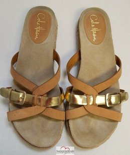 Cole Haan Nike Air Leather Flip Flop B Brown Sandals