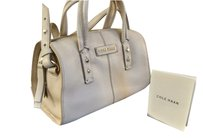 Cole Haan Leather Satchel in Ivory