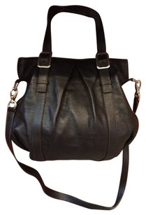 Cole Haan Leather Cross Body Tote in Black