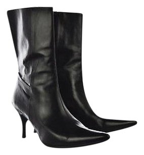 Cole Haan City Womens Pointed Toe Mid Calf 8b Heels Black Boots