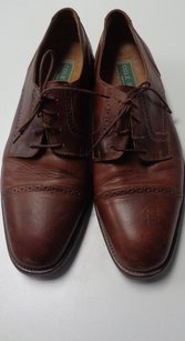 Cole Haan Brown Textured Oxford Lace Up Dress Shoes Leather B3152