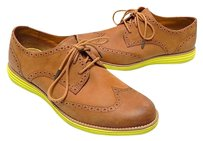 Cole Haan Lunar Grand Saddle Wingtip Leather Oxfords Brown Flats
