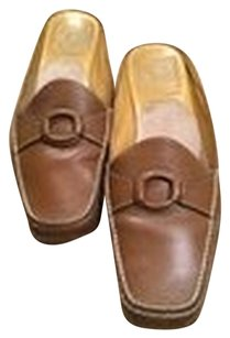 Cole Haan Womens Slipons Nike Tan Brown Mules