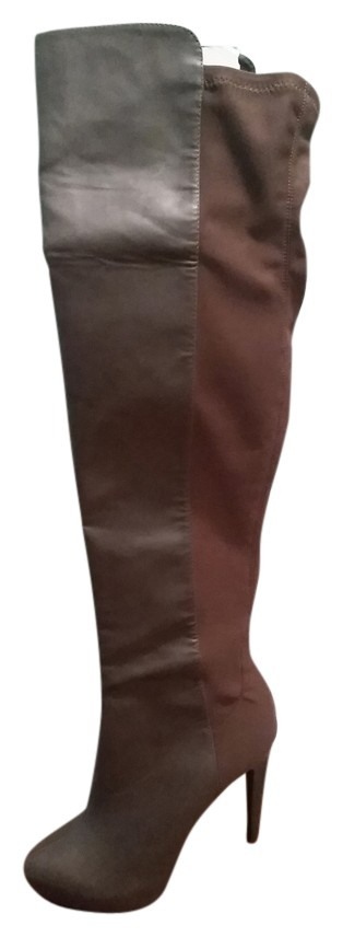 a1b7523f4b0 Colin Stuart Gray Thigh High Leather Boots Booties Size Size Size US 7.5  Regular (