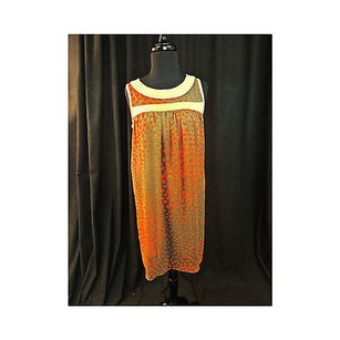 Collective Clothing short dress Multi-Color Brown And Orange Shift Sleeveless916 on Tradesy
