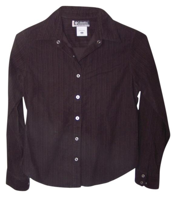 Columbia Sportswear Company Brown Button Down Shirt