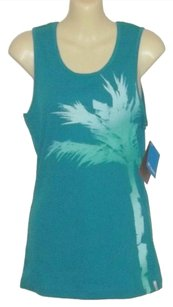 Columbia New Ribbed 100% Cotton Top Blue-Green