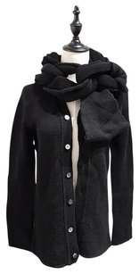 Comme des Garçons Chunky Cable Knit Scarf Wool Cardigan