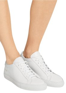 Common Projects Achilles Leather Low Top Lace Up Sneakers 1242 White Athletic