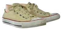 Converse All Star Womens Low Top Sneakers Textile Casual Lace Up Beige Flats