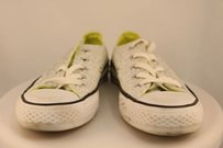 Converse Womens Silver White Athletic