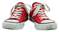 Converse All Star Womens Color Block Lace Up Sneakers Textile Red Athletic
