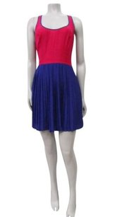 Cooperative Urban Outfitters Colorblock Back Accordion Pleat Dress