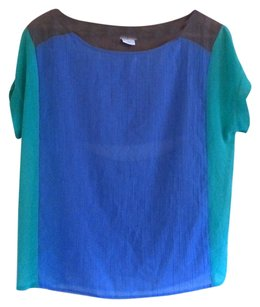 Cooperative Color Block Open Back Top Multicolor