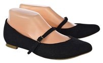 Cooperative Womens Mary Janes Casual Textile Black Flats
