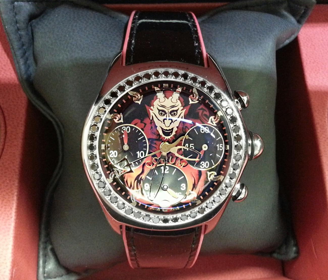 Edition Diamond: Corum Bubble Lucifer Limited Edition Of 66pcs In Steel